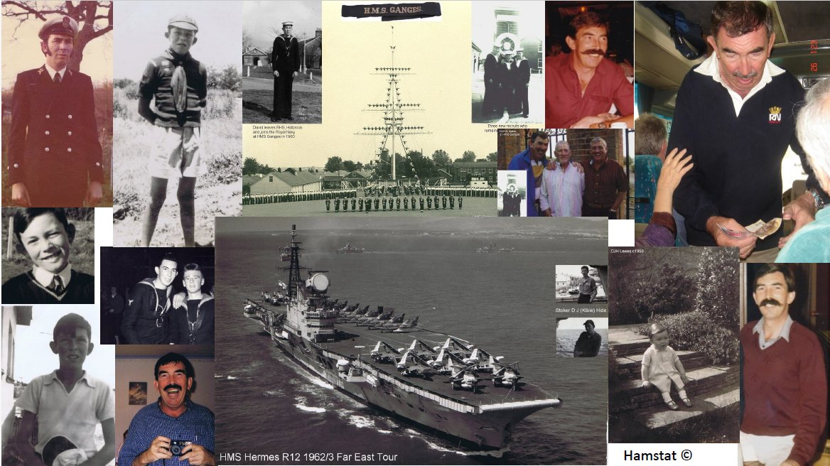 David Hide at HMS Ganges & HMS Hermes.